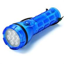 LIGHTORCH 7 LEDLİ KAUÇUK GÖVDE EL FENERİ 2xD KALIN PİLLİ