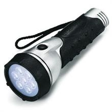 LIGHTORCH 7 LEDLİ METAL-KAUÇUK GÖVDELİ EL FENERİ 2xD KALIN PİLLİ